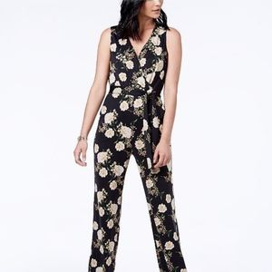 NY Collection Petite Jumpsuit Yellow Rose Small